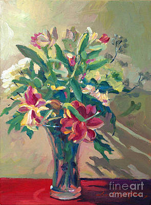 Traditional Still Life Painting - A Glass Full Of Spring by David Lloyd Glover