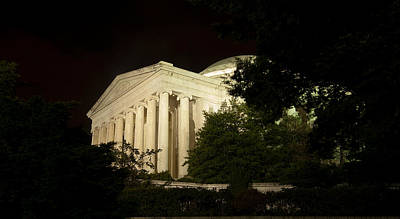 Photograph - A Glimpse Of The Jefferson Memorial by Paul Mangold