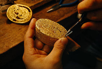 Artists And Artisans Photograph - A Gold Filigree Box From A Spanish by Sisse Brimberg