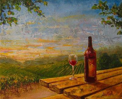 Glass Of Wine Painting - A Good Year by Jane Mick