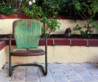 Photograph - A Green Chair by Lorraine Devon Wilke