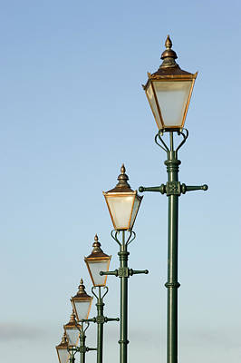 A Group Of Old Gas Street Lamps Art Print by Bill Hatcher
