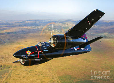 Photograph - A Grumman F7f Tigercat In Flight by Scott Germain