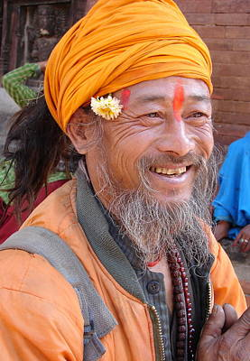 Photograph - A Happy Saint From Nepal by Anand Swaroop Manchiraju
