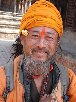 Photograph - A Happy Saint In Nepal by Anand Swaroop Manchiraju