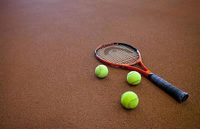 A Hard Court Tennis Court Art Print