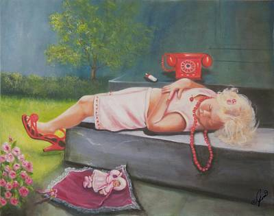 Painting - A Hard Day Of Play by Joni McPherson