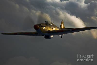 Photograph - A Hawker Hurricane Aircraft In Flight by Scott Germain
