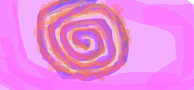 Ezekiel Painting - A Heavenly Whirly-whirly Or Ophan Dreams Of Being On Earth As A Cinnamon Roll  by Naomi Jacobs