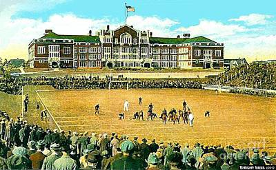 Painting - A High School Football Game In Toledo Oh In 1910 by Dwight Goss