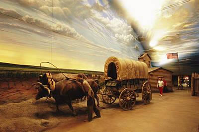Log Cabin Art Photograph - A Historical Display At The Great by Joel Sartore