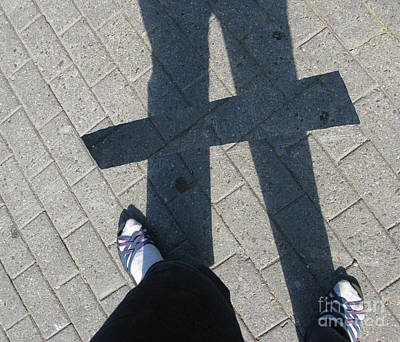 Photograph - A Is For Ausra. A Shadow Autoportrait by Ausra Huntington nee Paulauskaite