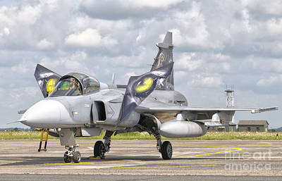 A Jas-39 Gripen Of The Czech Air Force Art Print by Giovanni Colla