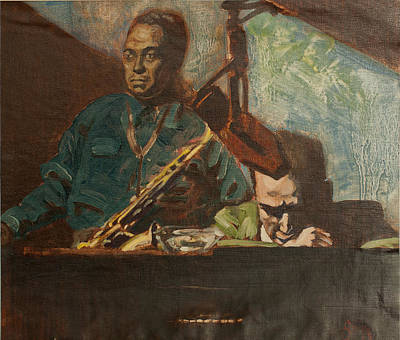 Jazz Painting - A Jazz Thing by Michael Facey