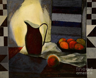 Canned Fruit Painting - A Jug by Jukka Nopsanen
