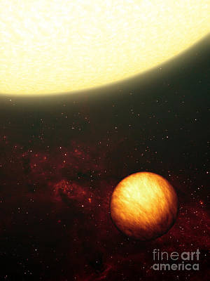A Jupiter-like Planet Soaking Art Print by Stocktrek Images