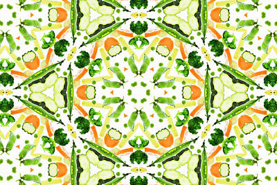 Healthy Eating Photograph - A Kaleidoscope Image Of Fresh Vegetables by Andrew Bret Wallis
