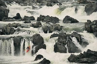 A Kayaker Speeds Down The Last Drop Art Print