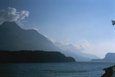 A Lake In The Engadin Valley Art Print