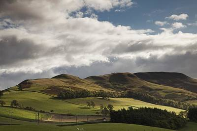 A Landscape With Rolling Hills And Art Print by John Short