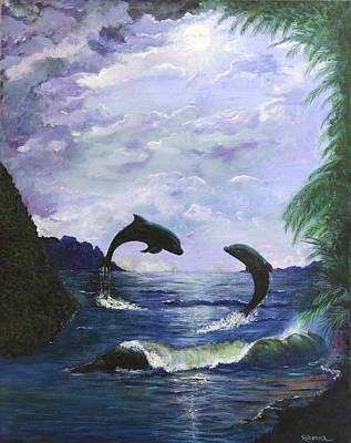 Painting - A Leap Of Faith by Judy M Watts-Rohanna