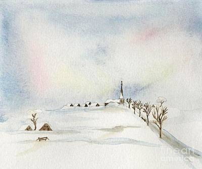 Painting - A Little Nest In The Snow by Annemeet Hasidi- van der Leij