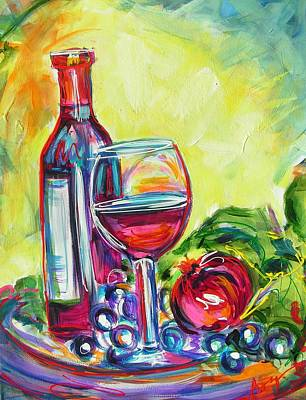 A Little Tipsy Art Print by Judy  Rogan