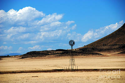 Wild And Wacky Portraits Rights Managed Images - A Lonely Job Windmill New Mexico Royalty-Free Image by Susanne Van Hulst