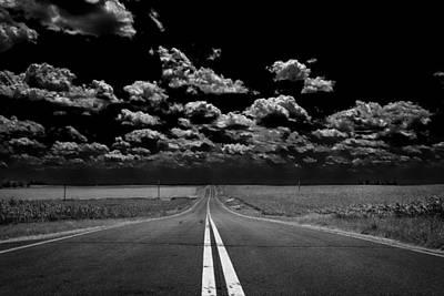 A Long Dark Road Art Print