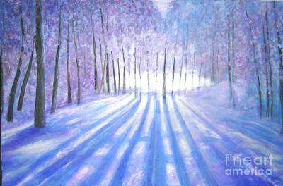 Painting - A Long Winter In Canada by Marie-Line Vasseur