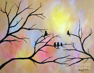 Print featuring the painting A Luminous Light by Stacey Zimmerman