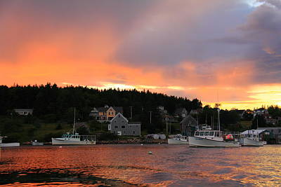 Photograph - A Maine Coast Sunset by Doug Mills