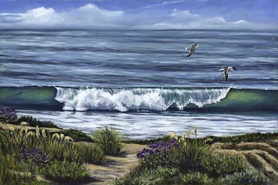 Malibu Painting - A Malibu Melody by Lisa Reinhardt