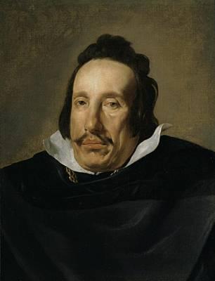 A Man Art Print by Diego Rodriguez de Silva y Velazquez