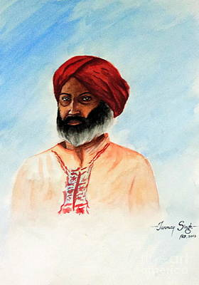 A Man From Rajsthan Art Print by Tanmay Singh