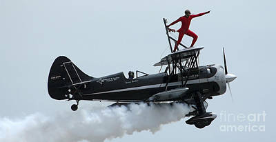 Photograph - A Man Strikes A Pose During His Wing by Stocktrek Images