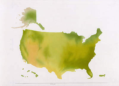 A Map Of The National Park System Art Print