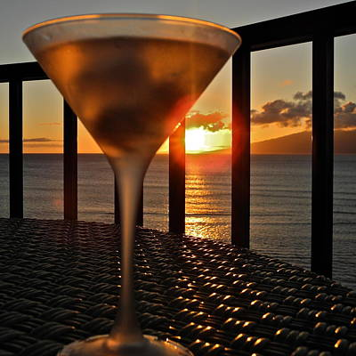 Photograph - A Maui Martini At Sunset by Kirsten Giving