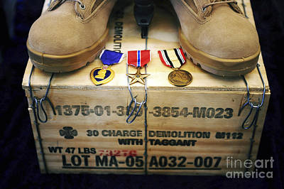 A Memorial Dedicated To An Airman Who Art Print by Stocktrek Images