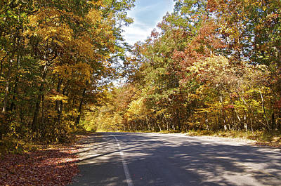 Country Roads Photograph - A Michigan Country Road by Sheryl Thomas