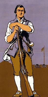 A Minute-man. Detail Of A World War I Art Print by Everett
