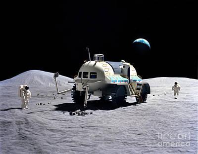 Photograph - A Model Of A Baseline Lunar Surface by Stocktrek Images