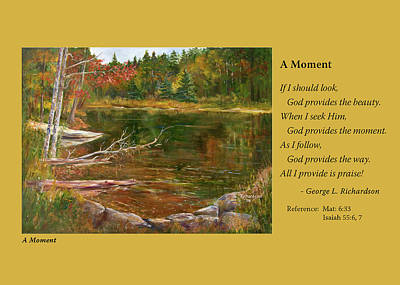Painting - A Moment    Card Only by George Richardson