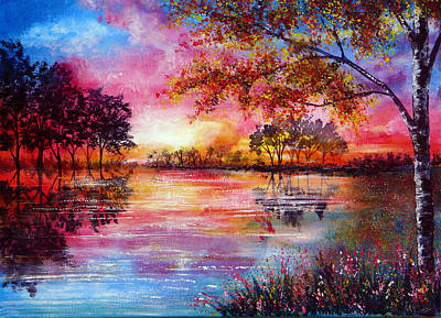Kinkade Painting - A Moment In Time by Ann Marie Bone