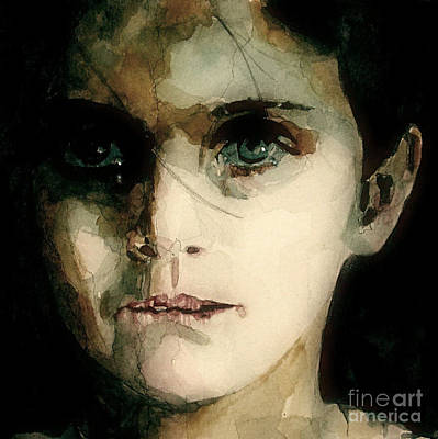 Child Portrait Painting - A Moments Thought For Those Who Have Not by Paul Lovering