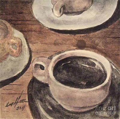 A Morning Cup Art Print