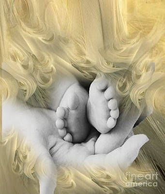 Painting - A Mother's Touch by Belinda Threeths