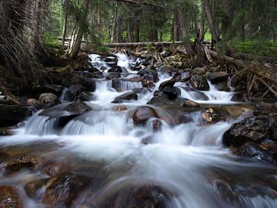 Photograph - A Mountain Stream by DeeLon Merritt