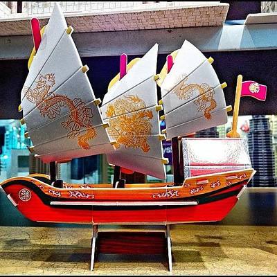 Dragon Photograph - A Nice #paper #replica #boat With by Victor Wong