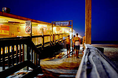Photograph - A Night At The Pier by Laura DAddona